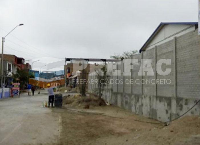 Instalacion cerco placa ladrillo prefabricado concreto
