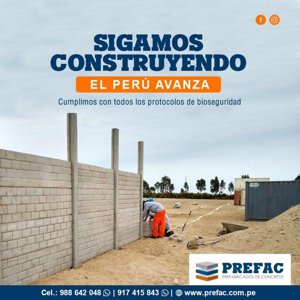 Muros tipo placa prefabricados de concreto